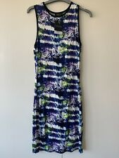 Topshop Tie Dye Midi Body Con Dress Size 12 BNWT