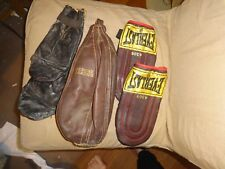 Vintage Everlast Boxing Gloves And Sears Bag (1940's)