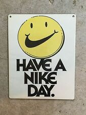 Nike Running Marathon Have A Nice Day Track & Field Poster Vintage Metal Sign