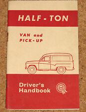 BMC mitad Ton van & Pickup Original Manual 1963 (akd3385a) Excelente Estado