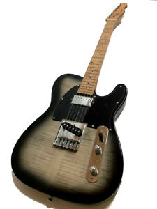 NEW ROASTED MAPLE 6 STRING TELE STYLE FLAME MAPLE ELECTRIC GUITAR HUMBUCKER