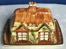 Vintage Chine-Price Kensington fromage beurrier & Couvercle. Ye old Cottage Ware