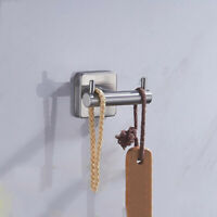 Bathroom Towel Bar Rail Wall Mount Suction Cup Holder Stainless Steel  LL