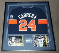 Miguel Cabrera Signed Framed 33x36 Jersey & Photo Display UDA Tigers