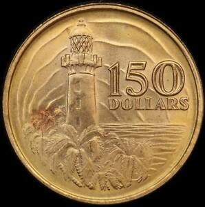 Singapore 1969 Gold 150 Dollars KM#7 Uncirculated