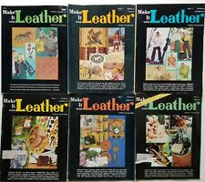 Make it Leather vintage Magazines 6 issues 1972 - 1974 pullouts patterns