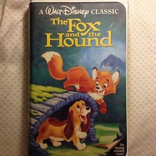 RARE Walt Disney's The Fox and the Hound VHS Black Diamond Classic