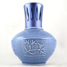"Rare LAMPE BERGER PARIS, Faïence ""Fleurs Bleues"" Vintage Design perfume lamp..."