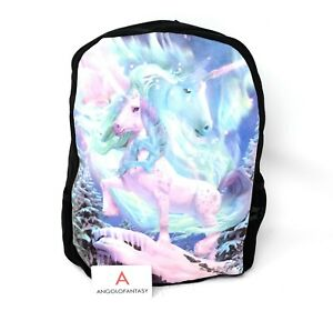 Rucksack Unicorn Aroura Zaino Fantasy Nemesis Now Unicorni Aurora Boreale Neve