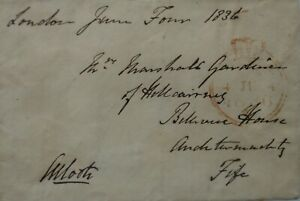 Free Front: 1836 to Auchtermuchty from Sir Charles Henry Coote, 9th Baronet.
