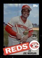2020 Update 1985 Baseball Black #85TB-17 Joe Morgan /299 - Cincinnati Reds
