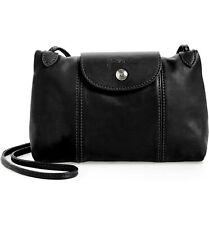 Longchamp Women's Leather Le Pliage Cuir Crossbody Bag Black