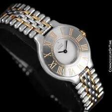 CARTIER Must De 21C Ladies SS Steel & 18K Gold Watch - Mint with Warranty