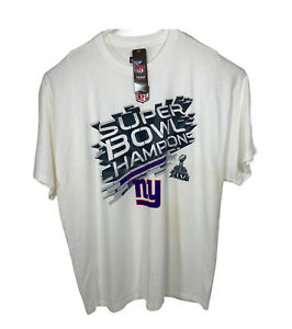 New York Giants Super Bowl XLVI Champions WHITE  T-Shirt  NEW 2XL XXL NFL