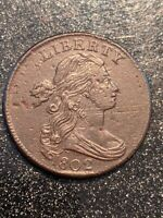 1802 Draped Bust Large Cent Grade Rarity Ch XF-AU !!
