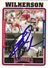 BRAD WILKERSON WASHINGTON NATIONALS SIGNED TOPPS CARD RANGERS MARINERS BLUE JAYS