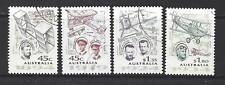 AUSTRALIE 1994 AVIATION PIONNIERS JEU DE 4 TRÈS BIEN UTILISÉ