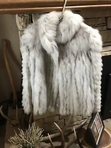 saga blue fox fur coat