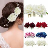 Hairpin Bridesmaid Hair Jewelry Bridal Flower Hair Comb Wedding Accessories