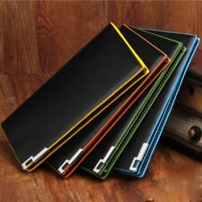 Luxury Men's Leather Long Wallet Bifold Purse Clutch ID Credit Card Holder US