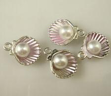 4pcs DIY Lot shell pear Metal Charm Pendant Necklace Bracelet earring Jewelry cY