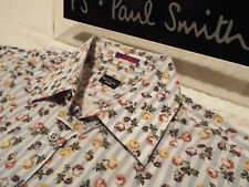 "PAUL SMITH Mens Shirt 🌍 Size 15"" (CHEST 40"") 🌎 RRP £95+📮 FLORAL AND STRIPES"