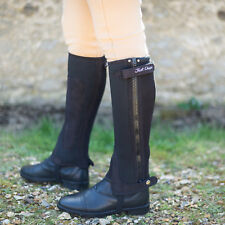 Just Chaps Adult All Purpose Neoprene Riding Half Chaps - Black & Brown
