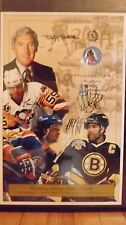 SIGNED 2004 HOCKEY NHL HOF INDUCTION POSTER - BOURQUE  COFFEY  MURPHY  FLETCHER