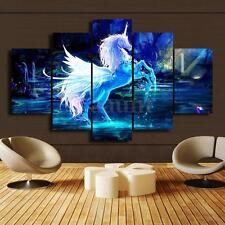 No Frame Printed pictures Unicorn Horse Painting decor Print Poster Canvas Wall