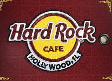 Hard Rock Cafe HOLLYWOOD FL 2016 Classic HRC Logo PATCH on Card NEW! Iron/Sew ON