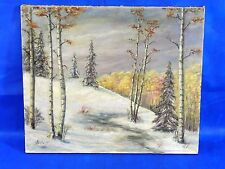 True Vintage Oil on Canvas Painting Landscape Signed by Artist 24X20