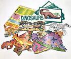 Dinosaur Posters Lot BRONTOSAURUS T-REX TRICERATOPS Vintage Calendar 1988 School
