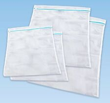 4 Stück Wäschenetze 3 Größen Wäschebeutel Wäschesack Wäschenetz Weiß