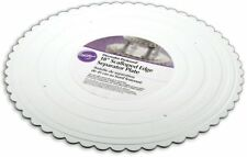 "Wilton 18 "" White Scalloped Edge Round Separator Cake Plates Preffered Decorator"