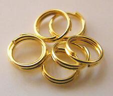 500pcs 6mm Iron Split Rings (Double Jump) - Bright Gold