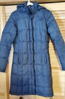 The North Face Women's Size Small Gray Puffer Jacket Long Coat 550 Down