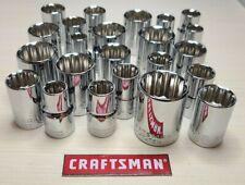 "New - Craftsman 12pt Sockets - Metric or SAE - 1/2"" Drive - Standard Length"