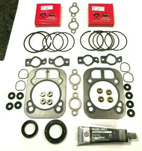 OVERHAUL KIT FITS KOHLER, PISTON RINGS 1.5MM, GASKETS & SEALS CH25, CV25, CH26