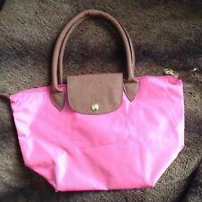 Pinke kleine Handtasche (kurze Griffe) nach ART einer LONGCHAMP Tasche
