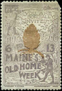 1900 Old Home Week Maine Poster Stamp Mint Hinged