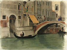 Bridge over a Canal in Venice by Willem Witsen A1+ High Quality Canvas Print