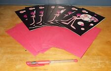 Pink Panther Notecards & Envelopes x 8 with Pen