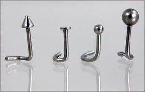 Nose studs -          Curly backed for comfort -        Surgical stainless steel