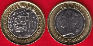 Venezuela 1 bolivar 2012 y#93 BiMetallic UNC