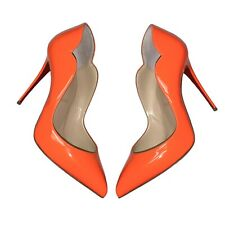 NEW Christian Louboutin Sexy Hot Chick Scallop Pumps Size 36 Orange Fizz Party