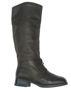 BLONDO Waterproof Tall Lace-up Riding Boots Sz 9.5 D Brown Leather Canada