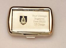 Royal Marines Army Regiment Shield Tobacco Hand Rolling Roll Up Cigarette Tin