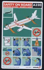 SWISSAIR swiss airlines airbus A 320 airline SAFETY CARD ee e426