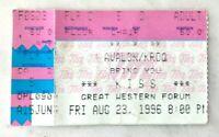 KISS ALIVE WORLDWIDE REUNION TOUR MAKEUP 1996 CONCERT TICKET STUB FORUM LA