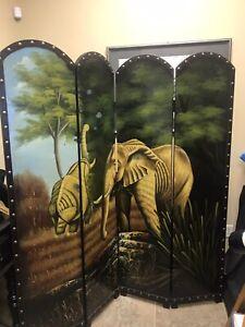 FOUR PANEL ELEPHANT ROOM DIVIDER
